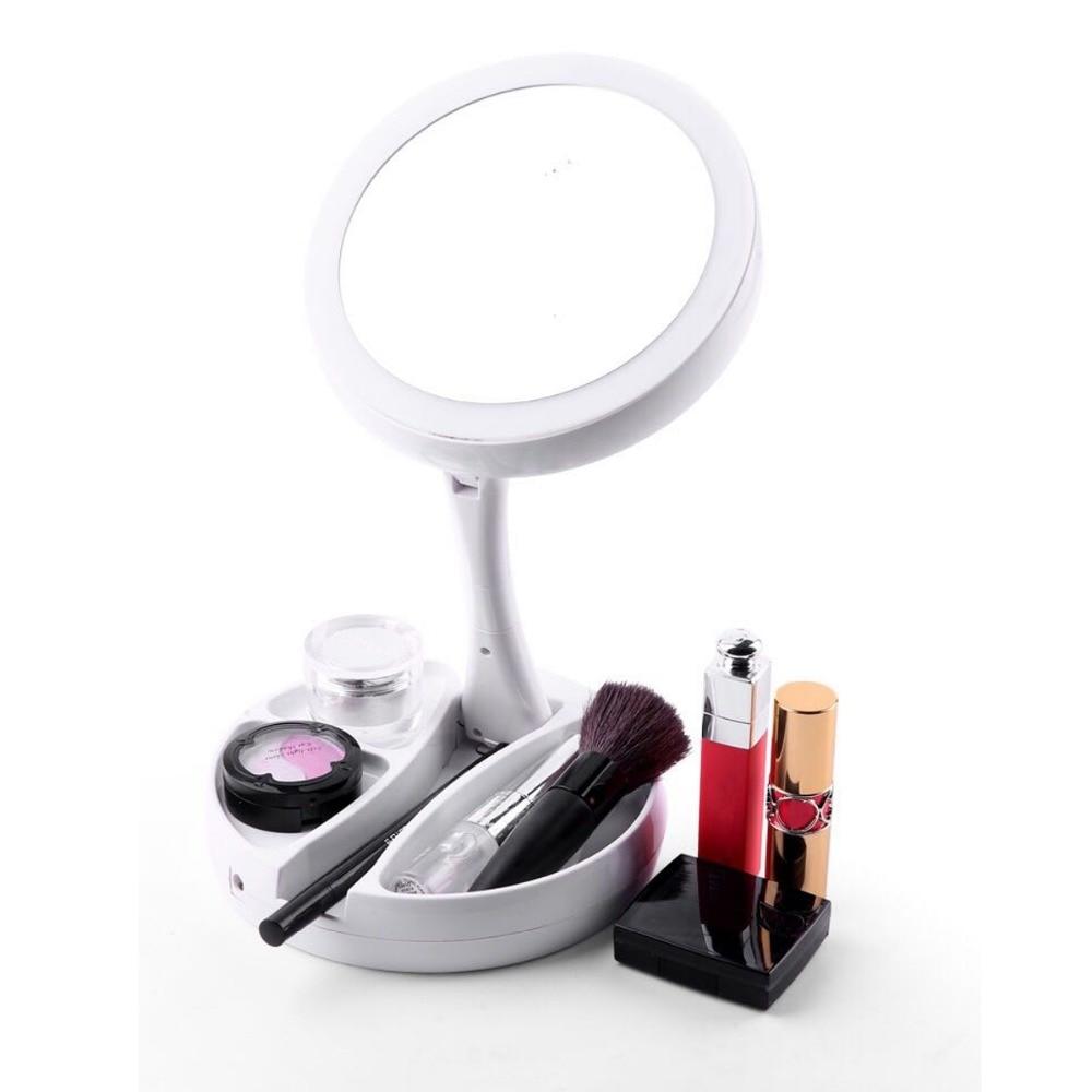 Vergrößerungsspiegel 10x Saugnapf Make-up Taschenspiegel Kosmetik Rasur Reise # H027 # Schminkspiegel