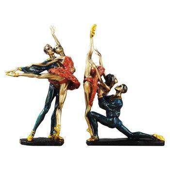 Retro Europe Ballet Girl Figure Decorate Resin Craft Ballet Figurines Table Decor Home Wedding Decoration Accessoreis Gift R1459