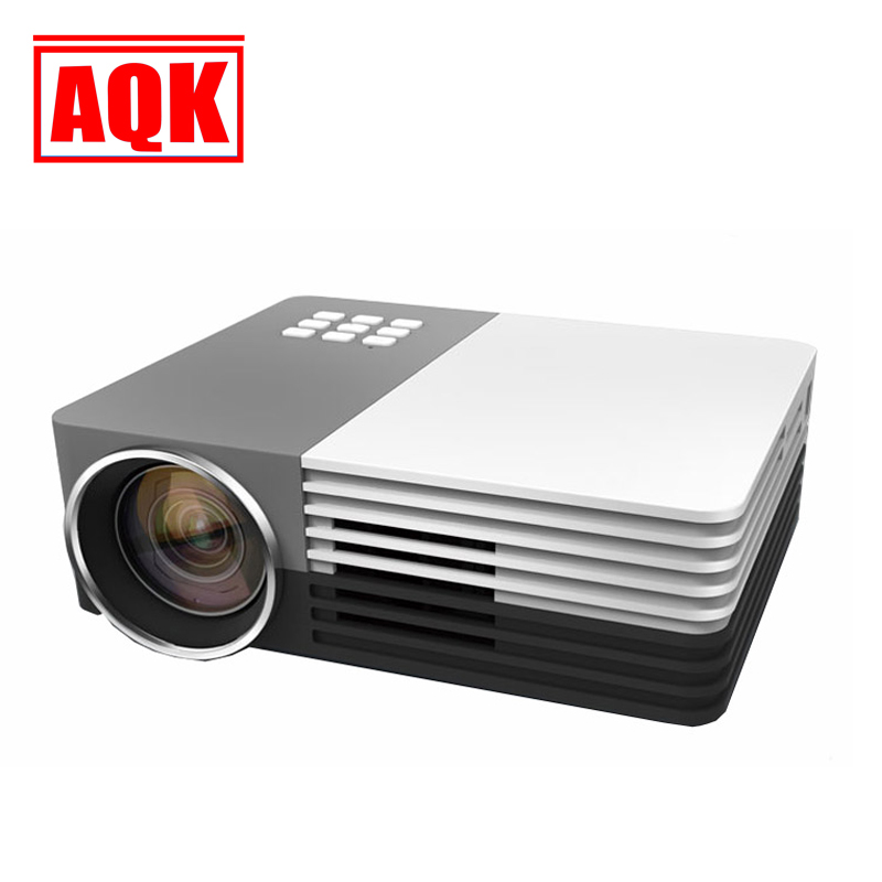 ФОТО New GM50 Mini Led Projector HDMI Home BLH Projector For Video Games TV Movie Support HDMI VGA AV Portable beamer Wholesale