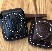 Match Z Brand Lighter Men Cigarette Holder Bag Small Box Case For Super High Leather Cover Windproof