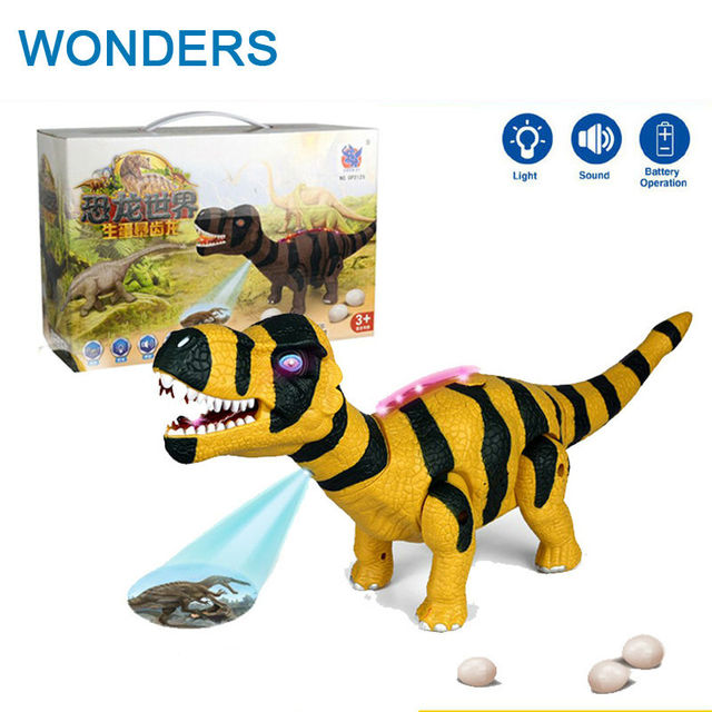 Electronic Big Size Dinosaur Action Figure Lay Eggs Dinosaur Toys Realistic Dinosaur with projection, Voice and light