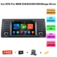Octa Core 2 + 32G Android 6.0 jogador DO CARRO DVD PARA BMW série 5 E39/7 Séries E38/X5 E53 Cabeça de áudio estéreo do carro GPS Multimídia unidade