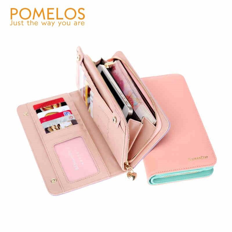 POMELOS Hot Sale Fashion Women Wallet PU Leather Womens Clutch Wallets Long Zipper Hasp Designer Female Wallets and Purses