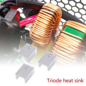 Image 2 - 10 sztuk TO 220 chłodzenie grzejnik aluminiowy arkusz radiator tranzystor radiator Cooler chłodzenie chłodnicy na PC komponenty komputerowe