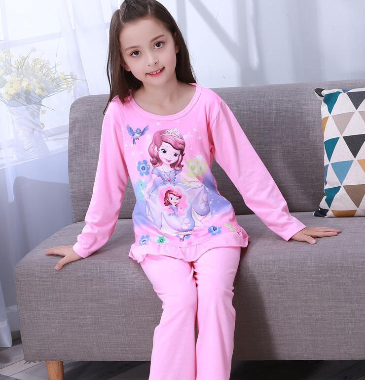 Low Price Palace Princess style Children Pajama Cotton Kids Pijamas Set  Sleepwear Girls Pyjamas LORI Lovely Clothing LSN15 39b2ef53f