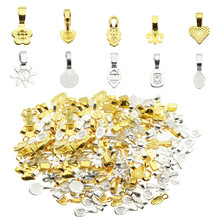 The high quality 100pcs DIY Oval Jewelry Scrabble Glue On Earring Bails For Fitting Glass Cabochon Tiles Pendants