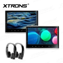 2 monitores 11,6 pulgadas IPS pantalla 1080 P Video reposacabezas coche reproductor de DVD HDMI juegos AV IN Out altavoz FM USB + 2 IR auriculares