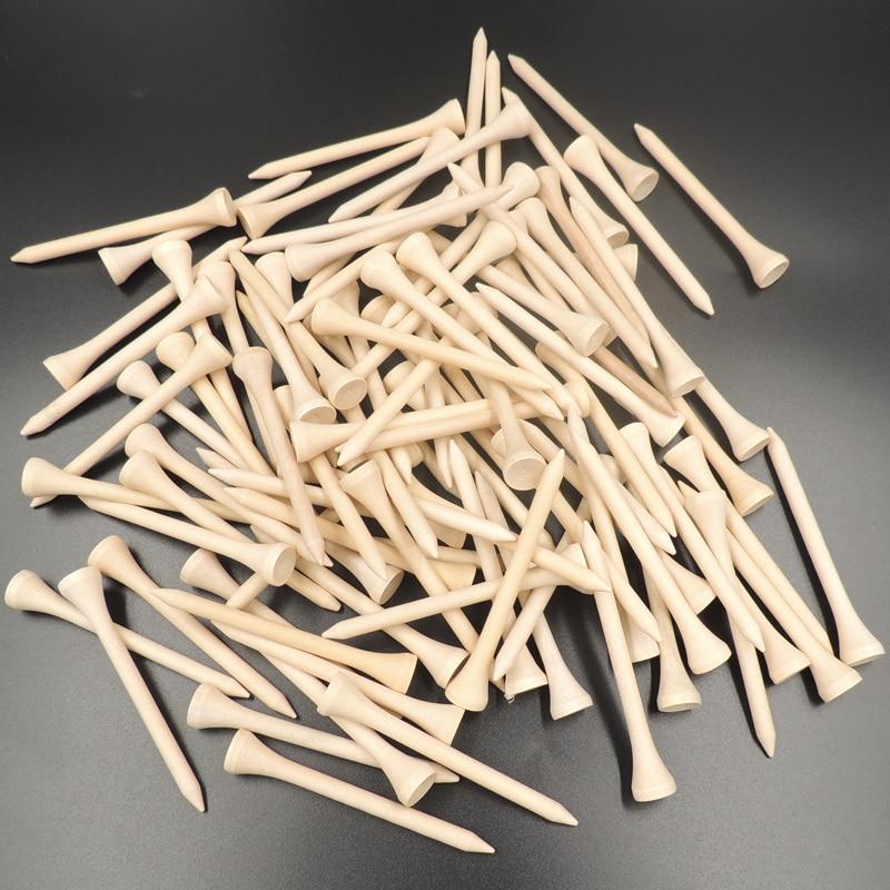 100pcs/pack  4.2cm/5.4cm/7.0m/8.3cm Wooden Golf Tees High Quality  Golf Wood Tees
