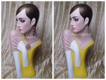 High Quality Fiberglass Vintage Female Mannequin Dummy Head Bust,Half Body Manikin Torso For Hat Display bix cpr260 advanced bust cpr manikin with printer mq070