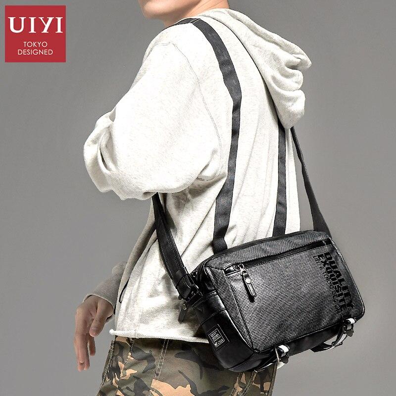2fe5cd58bd UIYI Men s Messenger Bag Handbag Men s Leather PU Shoulder Bag Black square  casual Crossbody Bag Business Male pack  UYX7053