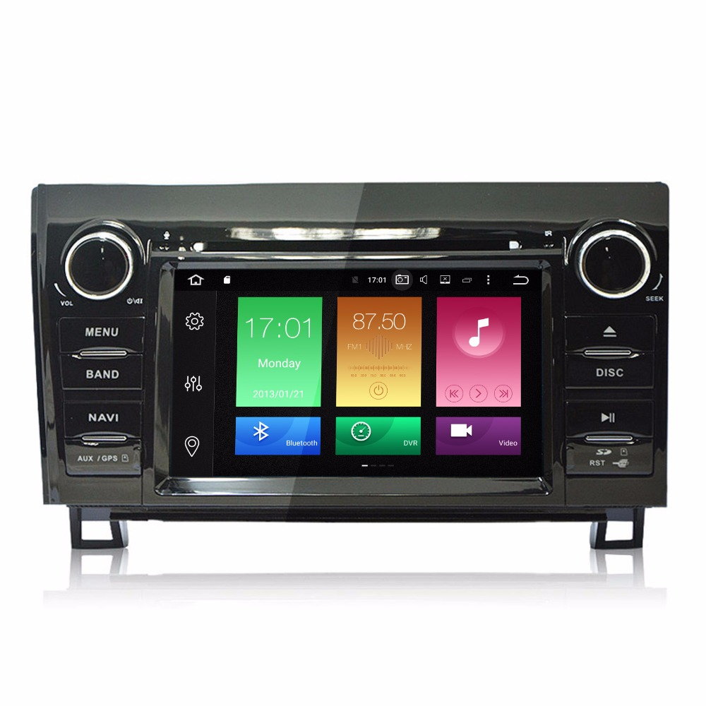 7 touch screen octa core android 6 0 car dvd for toyota sequoia tundra 2007
