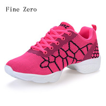 Fine Zero 2017 NEW Women's Dancing Shoes Jazz Sneakers Salsa Dance Sneakers for Woman Breathable Dancing Shoes