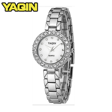 2018 Famale Bracelet Rhinestone Watch Fashion Women's Waterproof Diamond Watches Lady Stainless Steel Band Relogio Feminino