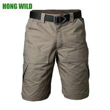 Летние тактические карго шорты водонепроницаемые мужские тефлоновые камуфляжные армейские военные мужские повседневные шорты с карманами