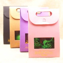 5pcs pink/Brown/pink/purple Handmade gift bags,Stand up wind