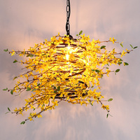 Music restaurants chandeliers YELLOW flowers music bars lamps simulation green plants light meal bar lamps ZA428513