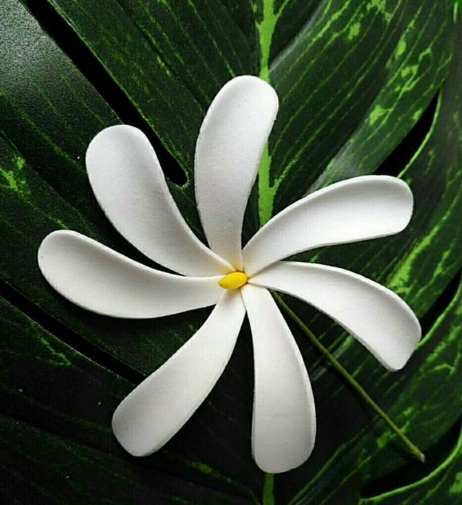Free Shipping F114 288pcs/ Lot 8 CM Foam Tiare Hair Pick  Women Wear Hair Accessories Hawaii Tropical Flower