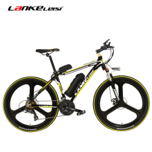 MX3.8 Elite 26 Inch 5 Grade Assist 48V 10Ah Strong Battery Electric Mountain Bike,with 3.5 Inches Big Bicycle Computer, 7 Speed