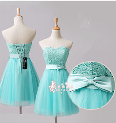 women plus Size Blue pink Strapless Prom Dresses Ball Gown Bow Formal Evening Brithday - KC International Fashion Store store