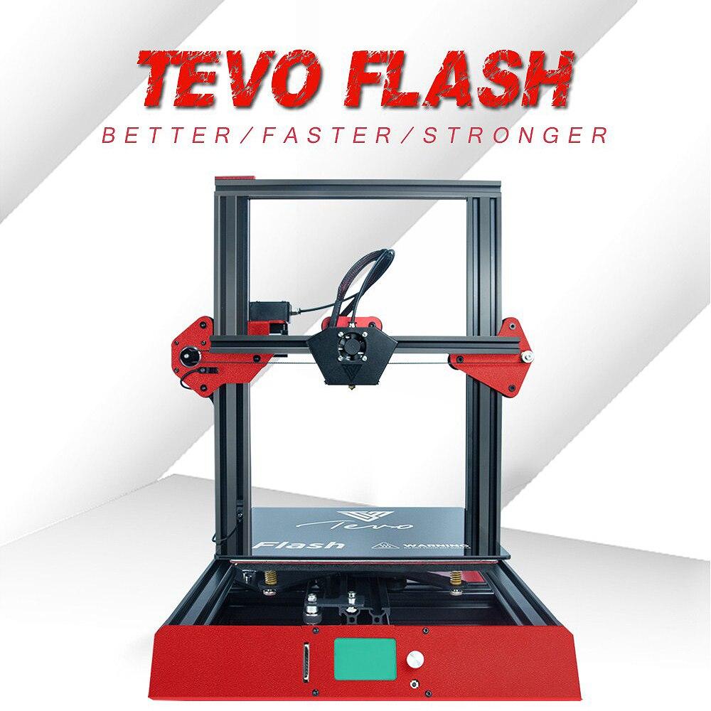 TEVO Flash 98% Prédéfinis 3D Imprimante Kit 235*235*250 Impression Taille full metal cadre 3D Imprimante