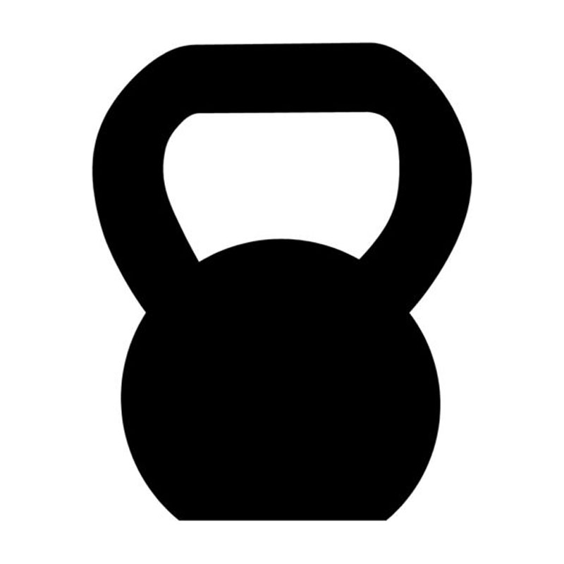 9 5 12cm Kettlebell Funny Car Sticker Decal Personalized