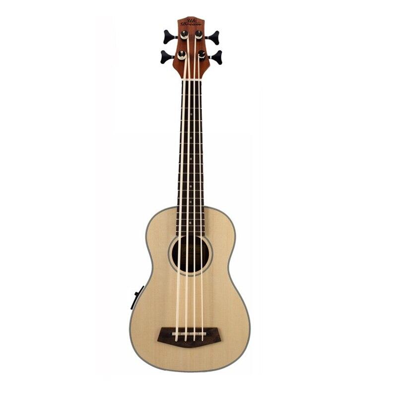 30 pouces ukulélé basse Guitarra Electrica mini guitare Instruments de musique professionnel épicéa voyage petite guitare ukelele