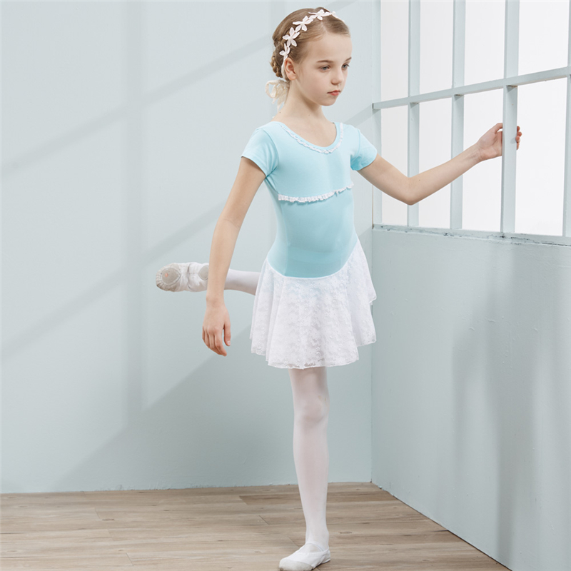 Combed Cotton Ballet Dress Tutu Ballet for Girls Kids Children High Quality Short Sleeves Tulle Dance in Ballet from Novelty Special Use