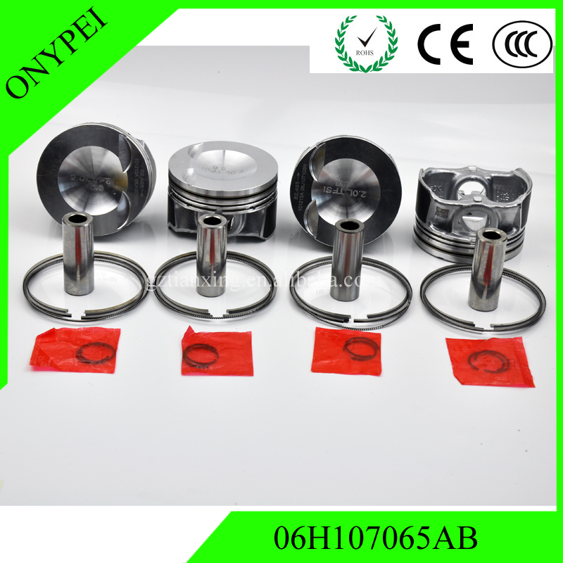 ( 4 pcs )06H107065AB New Engine Piston 21mm Ring 82.50mm Set For A3 TT 2.0 TFSI GTI Passat 06H107065AA 06H107065AM|Pistons  Rings  Rods & Parts| |  - title=