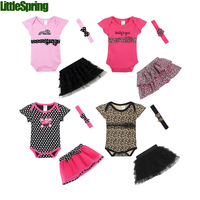 2015 New Fashion Baby Clothing Set Baby Girl Sets Romper Tutu Skirt Headband Newborn Bebe Spring