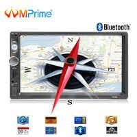 AMPrime 2din Rádio Do Carro Universal Autoradio Navegação GPS Bluetooth Touchscreen MP5 2 din Áudio Estéreo Do Carro FM Multimedia Player