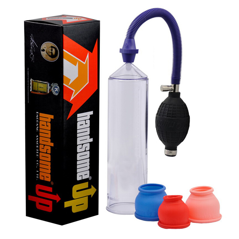 Pumps For Penis Handsome UP Penis Enlargement Vacuum Pump Penis Extender Potency Sex Toys Penis Enlarger For Men
