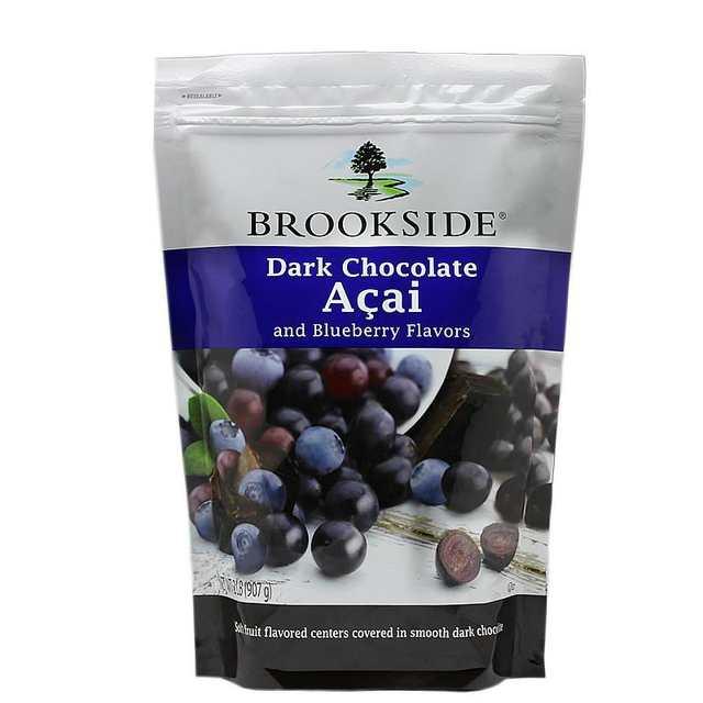 Canada Brookside Acai Brazil raspberry blueberry juice 907g of dark  chocolate sandwich bean bag