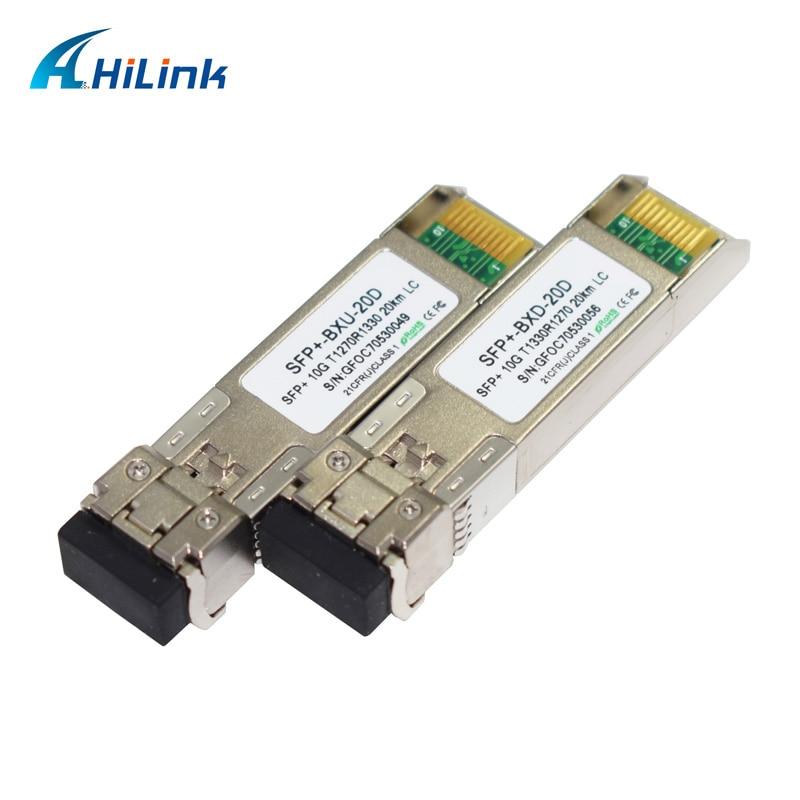 Free Shipping !!! Strong Compatibility Mini GBIC 20km/40km/60km 10G WDM BIDI SFP 1270nm/1330nm DOM LC Connector