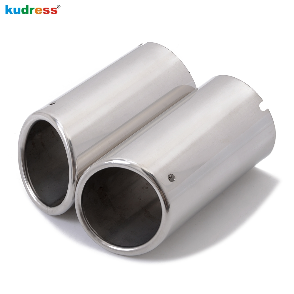 For Volkswagen VW Touran 2016 2017 Stainless Steel Exhaust Muffler Tip Pipe Tailpipes End Pipes Silencer