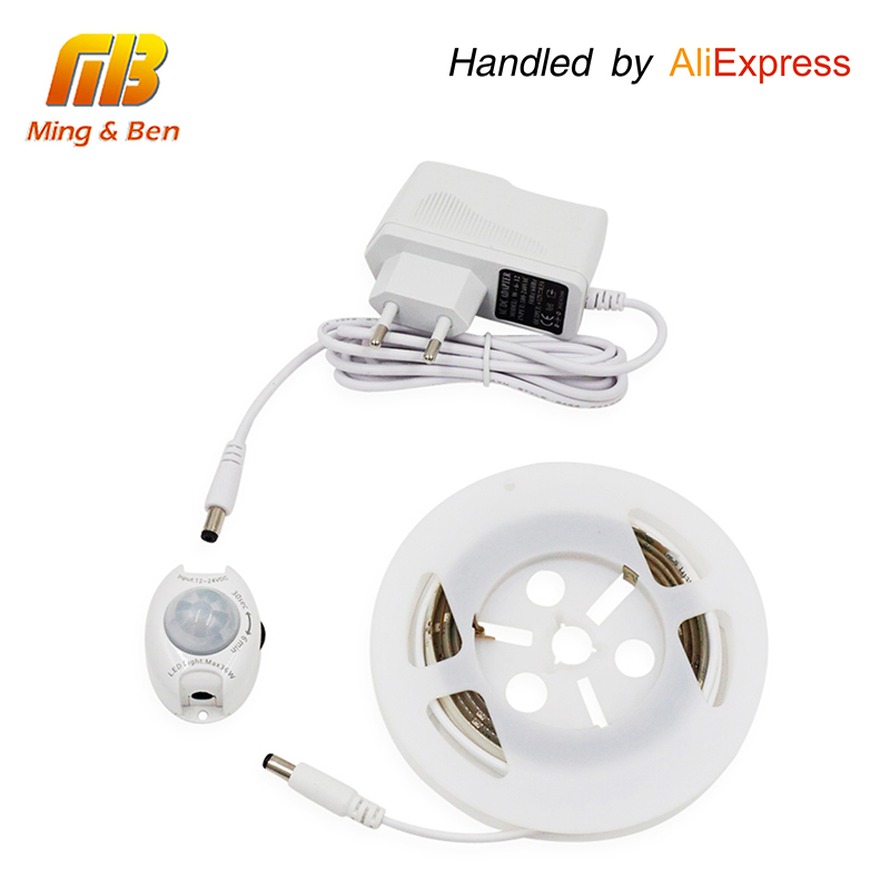 [MingBen] Motion Activated LED Sensor Strip Waterproof IP66 Digital Bed-lighting Acttivated Illumination With Body Sensor 1.2M