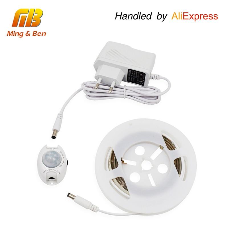 [MingBen] Bewegingsgeactiveerde LED Sensorstrip Waterdichte IP66 Digitale Bed-verlichting Acttivated verlichting met lichaamssensor 1,2 M