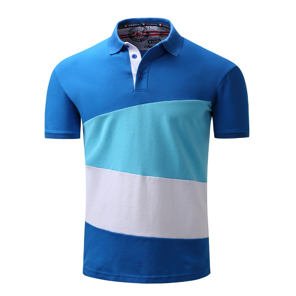 2017 top Men Polo Shirt Men 's Business Casual solid polo Summer Style Polos Short Sleeve Solid Shirt Blouse