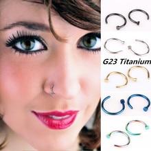 Полированный 18 г G23 титановый обруч носа кольца, пирсинг тела, украшения