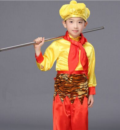 Boys Costumes Novelty & Special Use Sun Wukong Costume For Children Sun Wukong Cosplay Halloween Monkey Costume Funny Monkey Cosplay Warrior Cosplay Kids Clear And Distinctive
