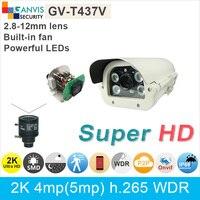 High power LED night vision 2 K Ultra HD kamera IP 4mp 5mp 1080 P WDR h.265 ONVIF P2P GANVIS odkryty kamera bezpieczeństwa GV-T437V