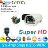 High Power LED Night Vision 2K Ultra HD IP Camera 4mp 5mp 1080P H 265 ONVIF