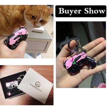Quality Alloy D VA Pistol Keychain D va Gun Keychain For Car Bag