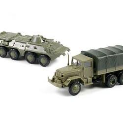 1: 72 M35 грузовик советский БТР 80 колесные бронированные машины резиновая-монтаж без модель Военная игрушка автомобиль