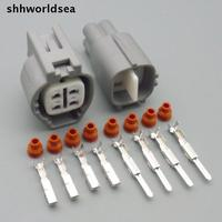 shhworldsea 5/30/100sets kit 4 pin 2.2mm 6188-0517 waterproof auto bulkhead electrical connector for Toyota 90980-11027