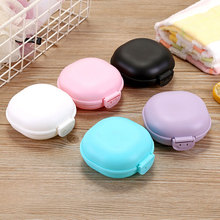 Creative Covered Waterproof Soap Box Candy Color Travel Drain Portable Holder Bathroom