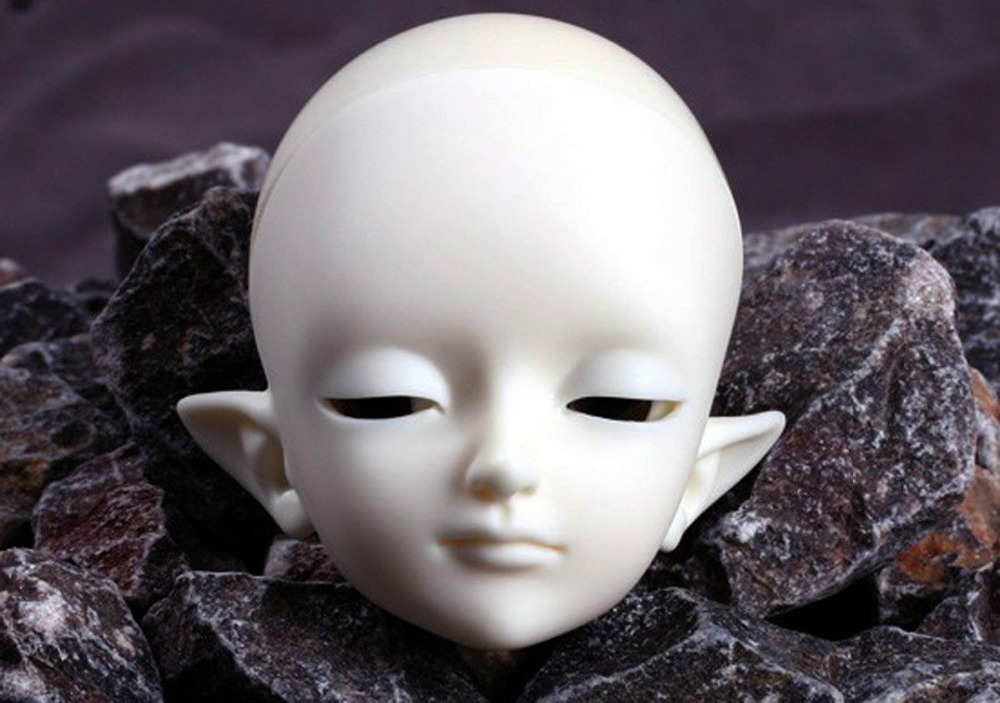 [wamami] AOD 1/6 BJD Dollfie Girl Doll Parts Single Head (Not Include Make-up)~WAN WAN [wamami] aod 1 3 bjd dollfie girl set free face up eyes yuki