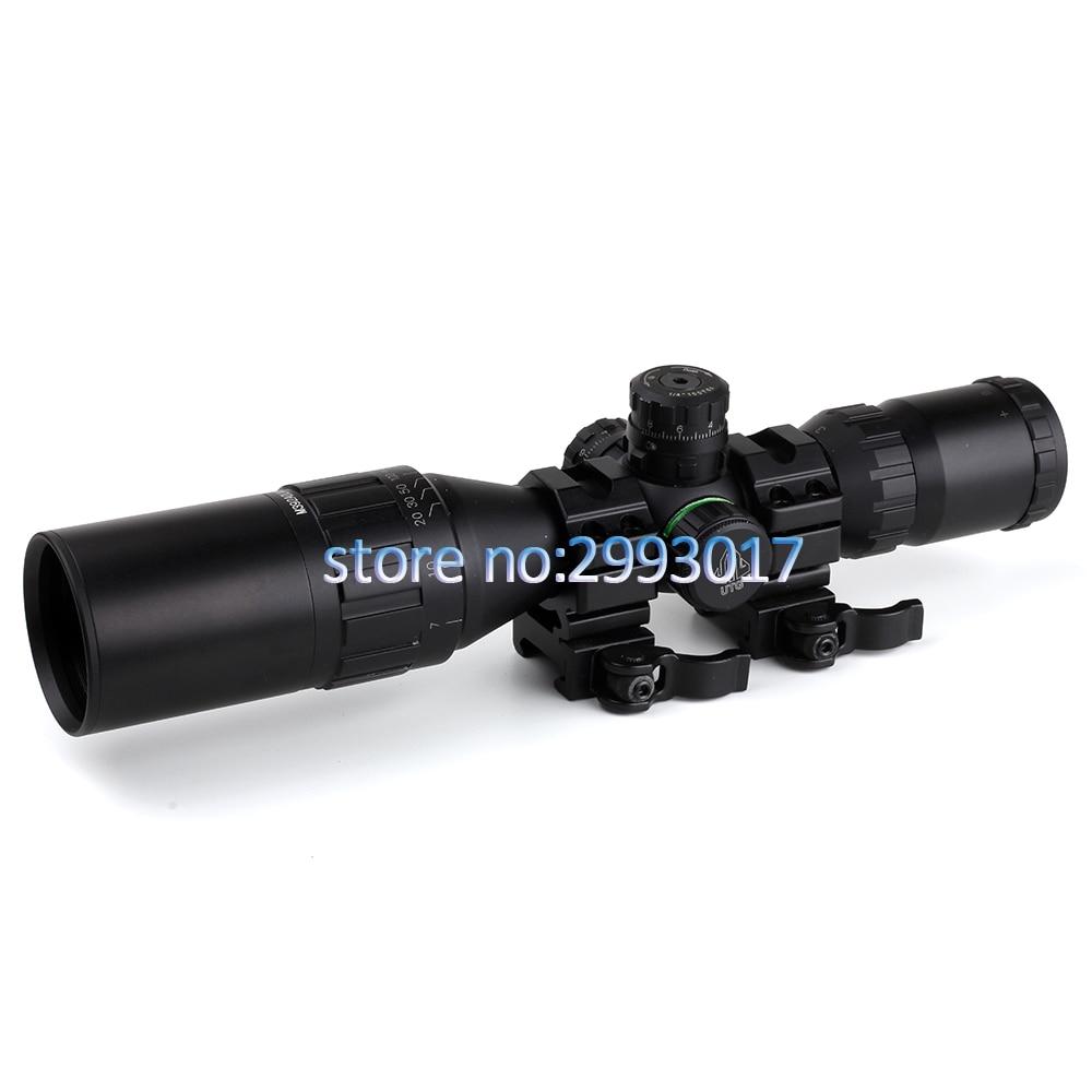 3-9x32 AO chasse optique 1 pouce Tube Mil-dot lunette de visée compacte avec pare-soleil et anneaux QD portée de fusil tactique