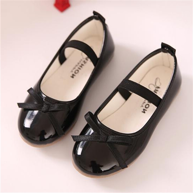 New Spring/Autumn Children Black Leather Shoes Girls Princess Pink Red Dance Shoes Flats Party Baby Toddler Shoes Kids Shoes 02BNew Spring/Autumn Children Black Leather Shoes Girls Princess Pink Red Dance Shoes Flats Party Baby Toddler Shoes Kids Shoes 02B
