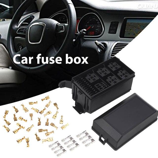 5 Road with 33 Pins Car Fuse Box 6 Relay Block Holder Fuse Box