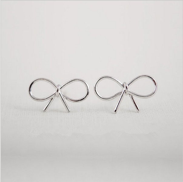 Fashion bowknot stud earrings wholesale free shipping